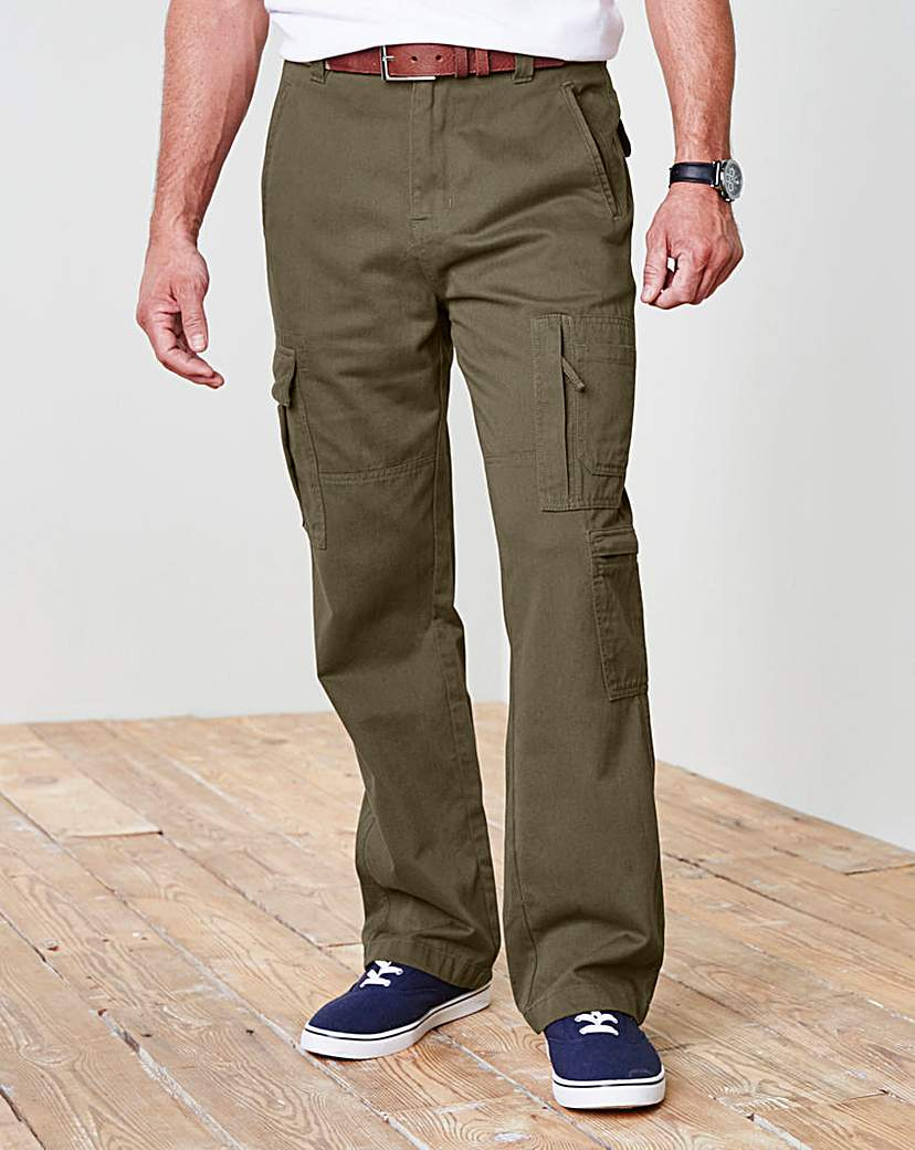 Image of WILLIAMS & BROWN Cargo Trousers 31in