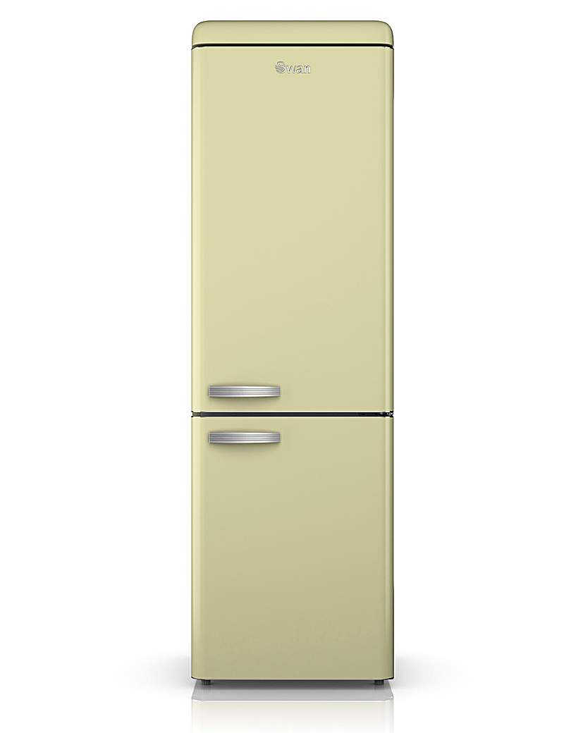Swan Retro 300L Fridge Freezer  Cream