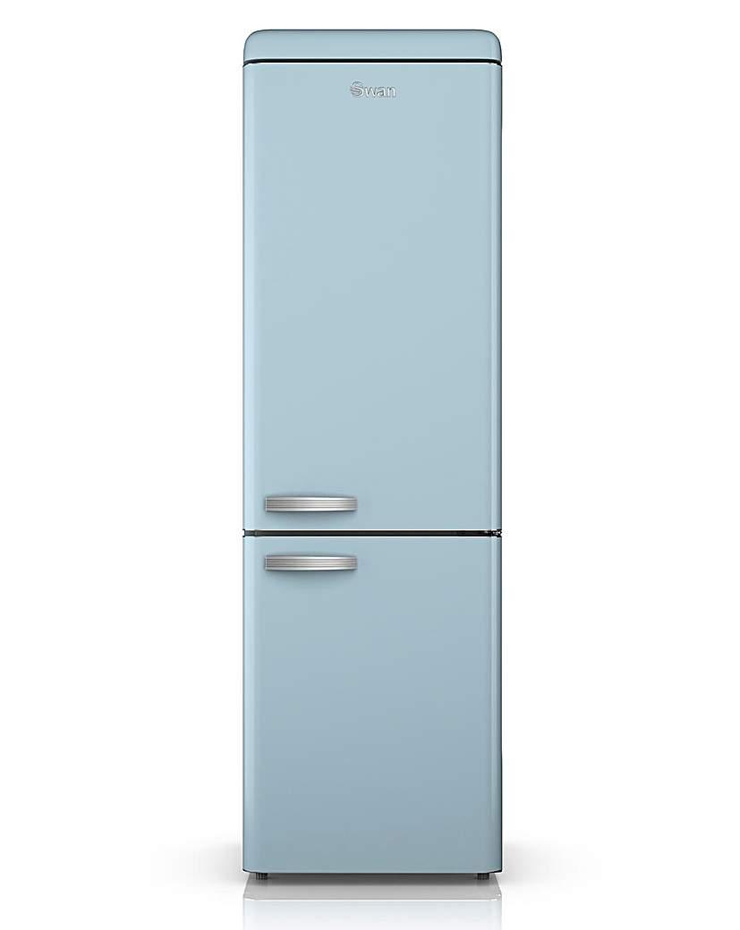 Swan Retro 300L Fridge Freezer - Blue
