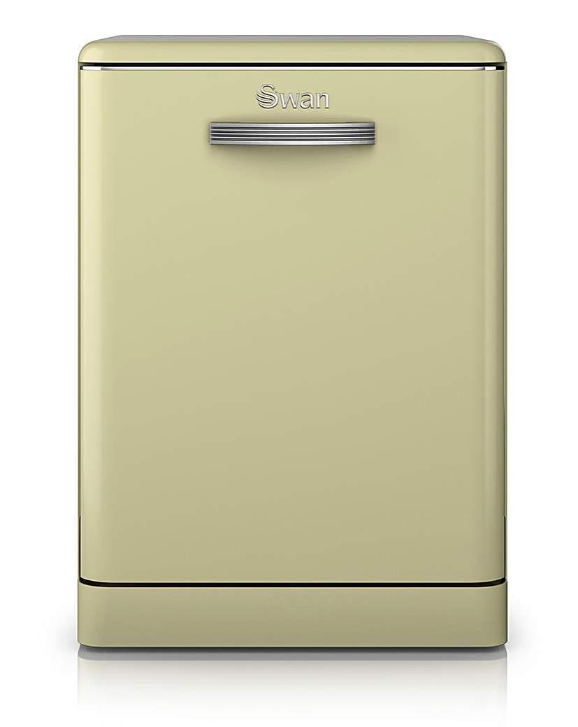 Swan Retro 12 Place Dishwasher - Cream