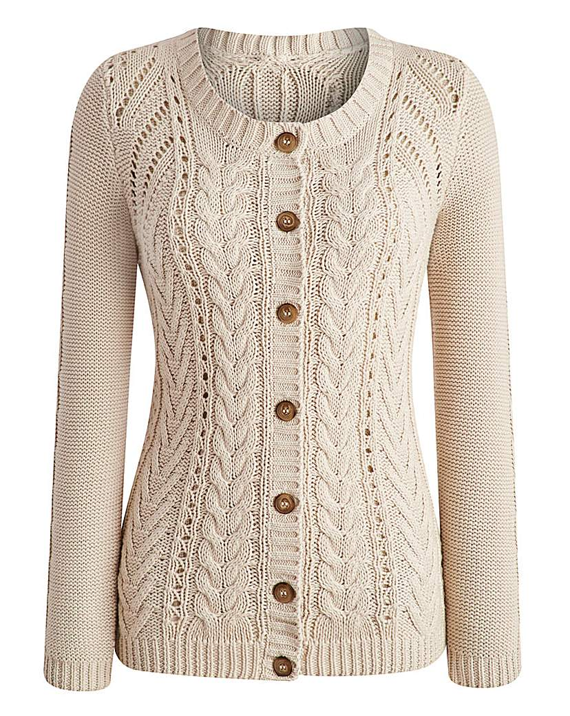 Vintage Sweaters – 1910s, 1920s, 1930s Pictures Cable Cardigan £35.00 AT vintagedancer.com