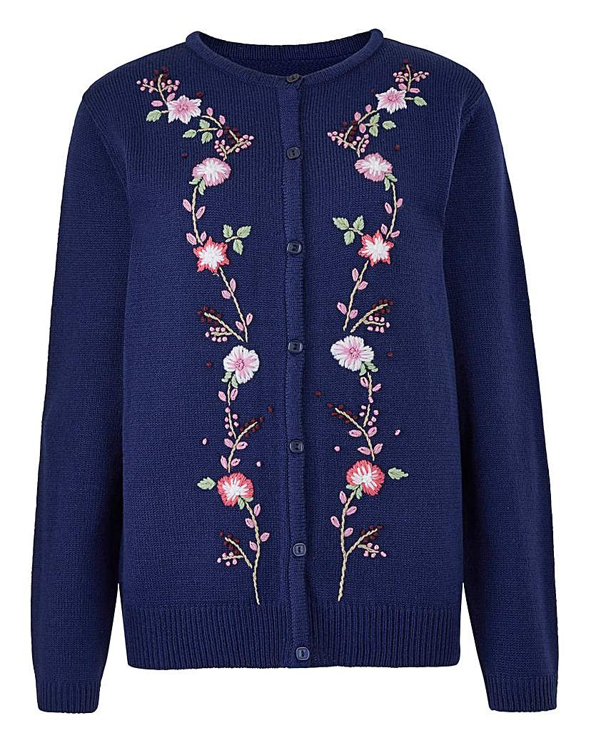 1960s Fashion: What Did Women Wear? Embroidered Cardigan £25.00 AT vintagedancer.com