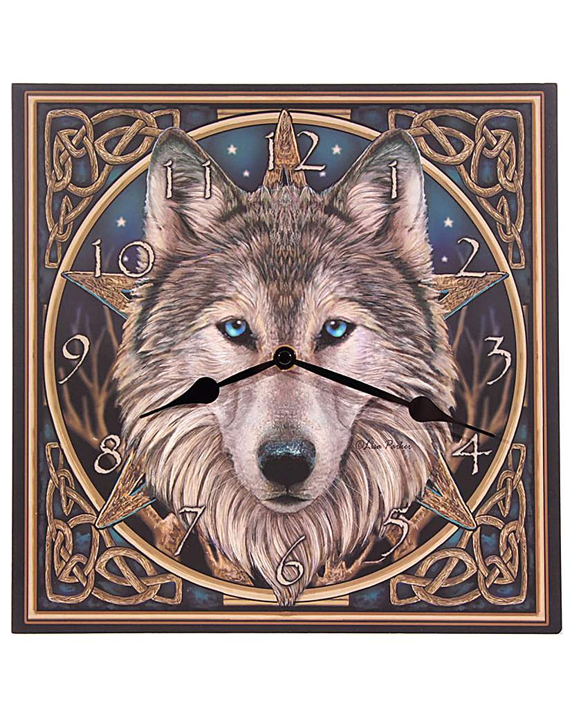 Image of Celtic Wolf Head Picture Clock