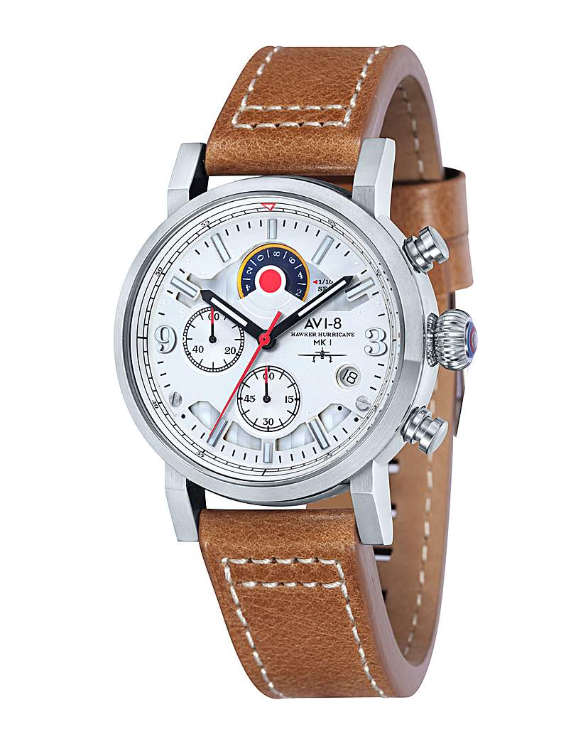 Image of AVI-8 Hawker Hurricane Watch - Brown
