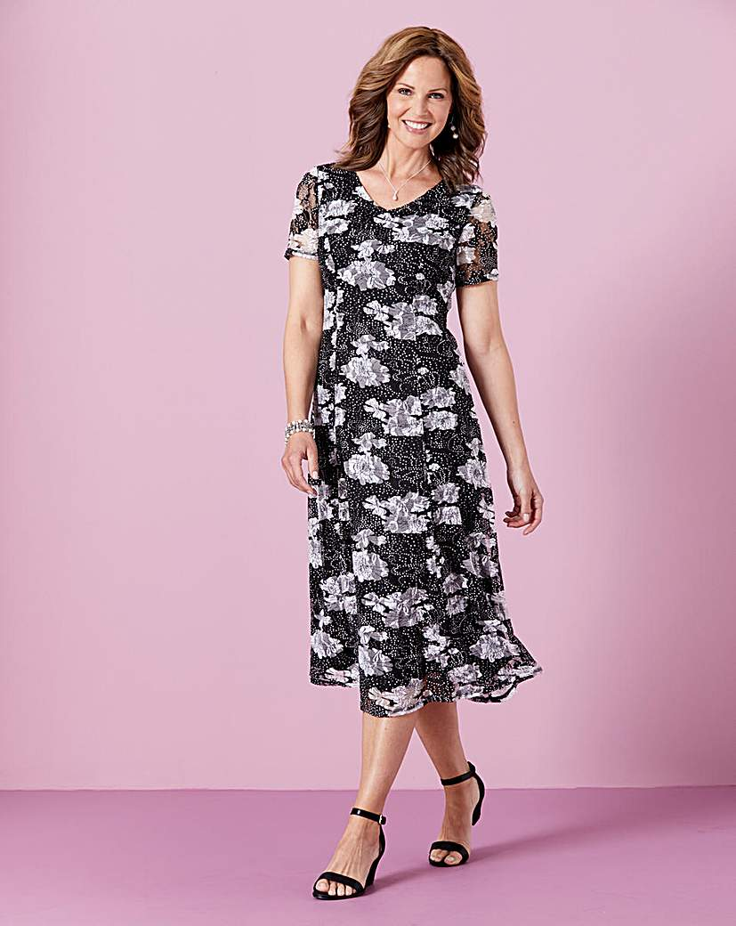 Printed Lace Dress L45in.