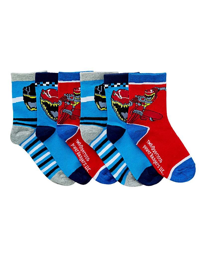 Image of Pack of six Power Rangers Socks