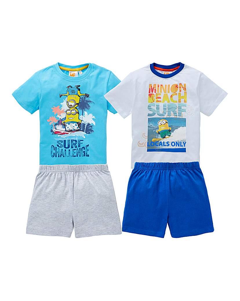 Image of Boys Pack of Two Minions Pyjamas