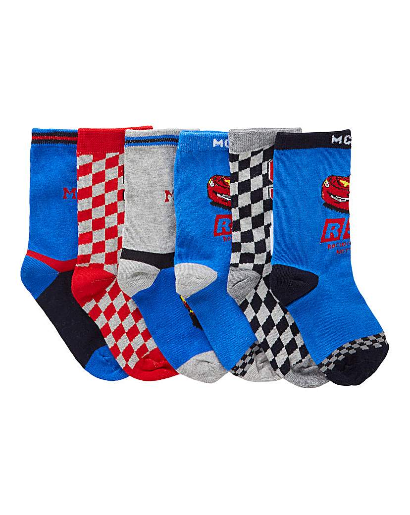 Image of Pack of six Cars Socks