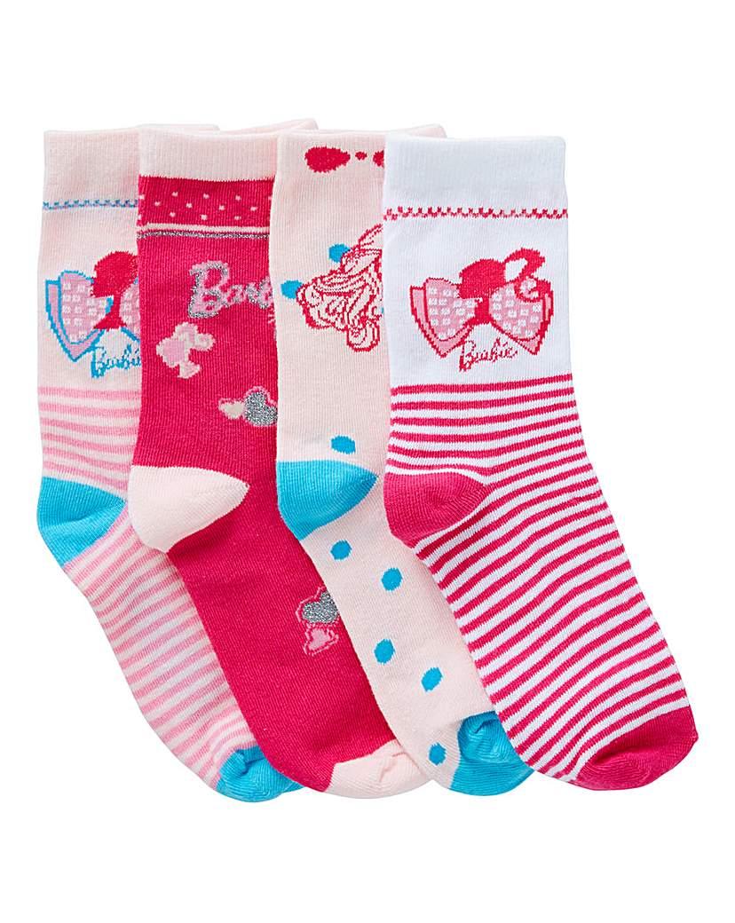 Image of Barbie Pack of Four Socks