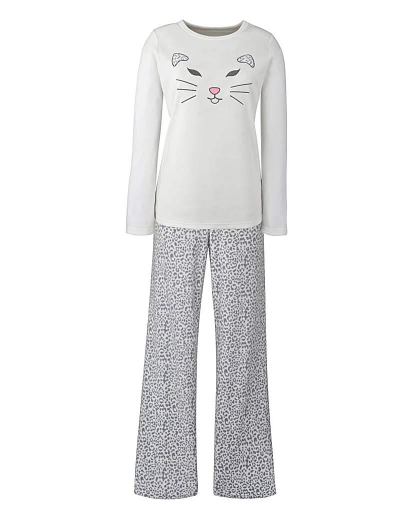 Cat Microfleece Pyjama Set