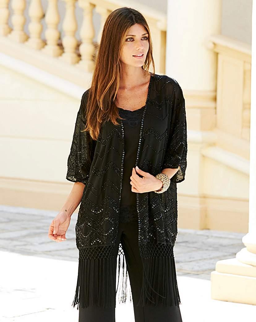 1920s Style Wraps JOANNA HOPE Beaded Kimono £40.00 AT vintagedancer.com