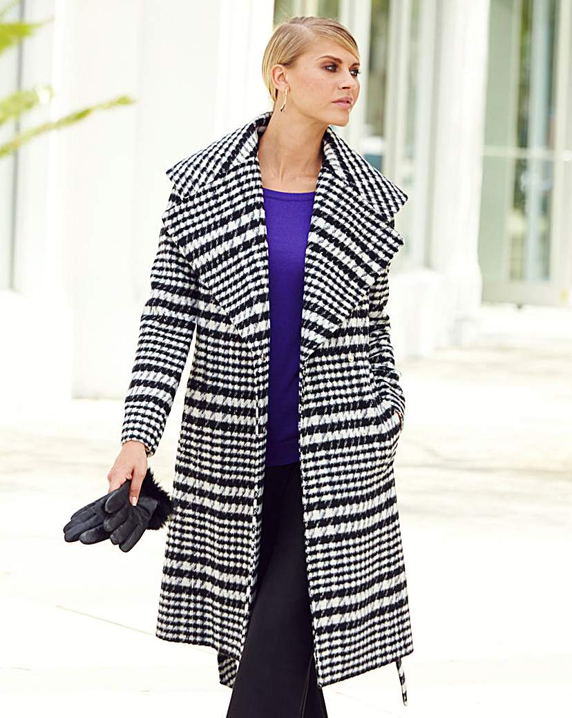 JOANNA HOPE Shawl Collar Coat