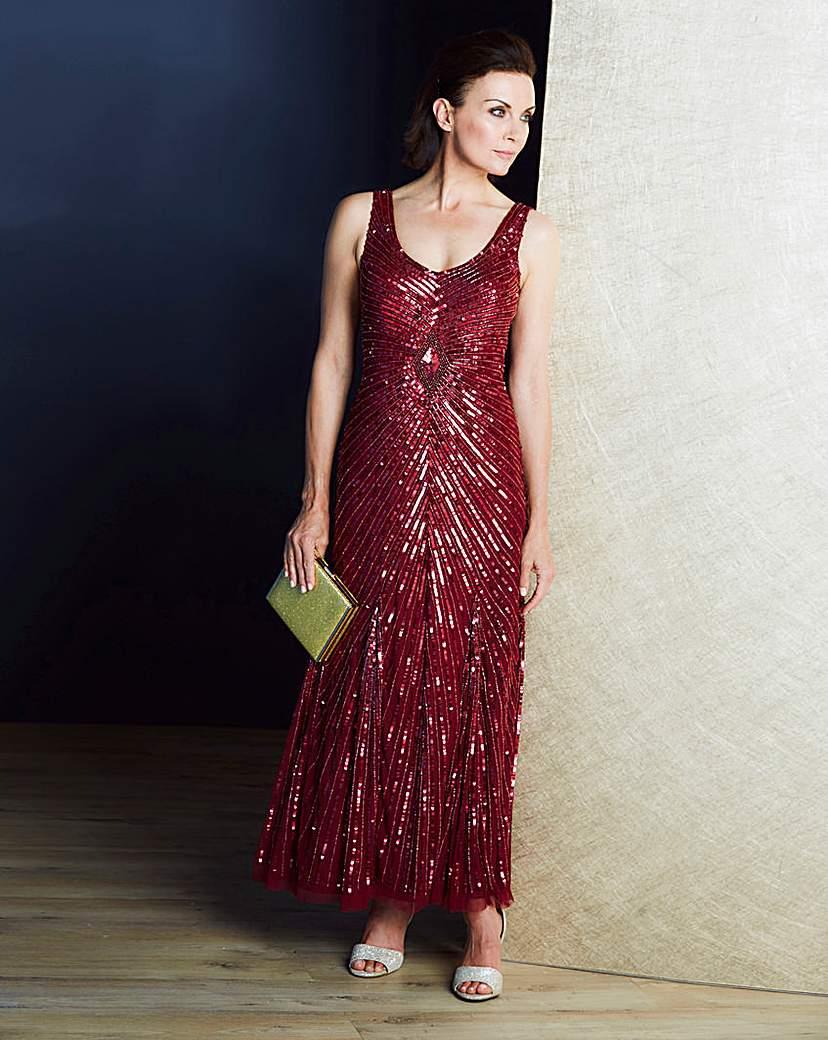 Modern Vintage Evening Dresses and Formal Evening Gowns JOANNA HOPE Sequin Maxi Dress £114.00 AT vintagedancer.com