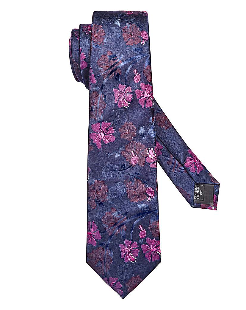 Williams & Brown Floral Silk Tie