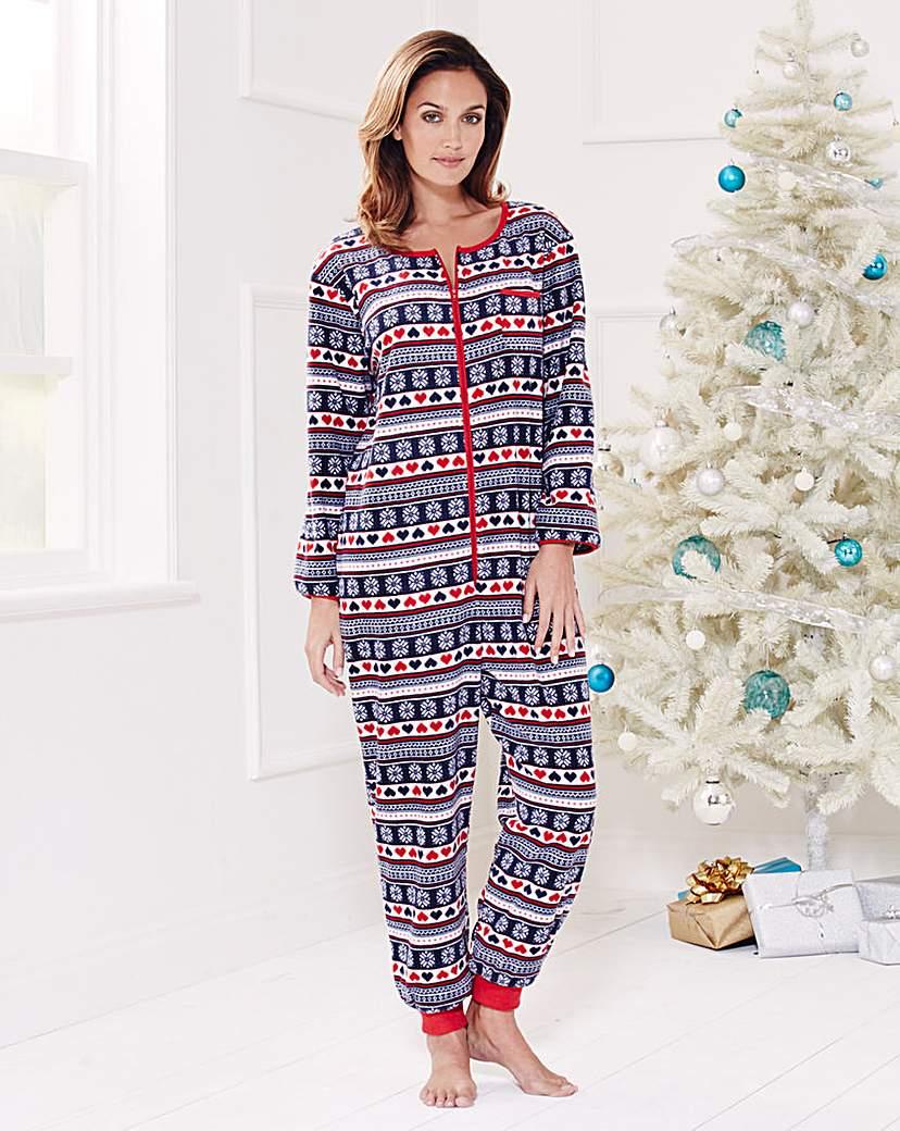 Pretty Secrets Christmas Fleece Onesie