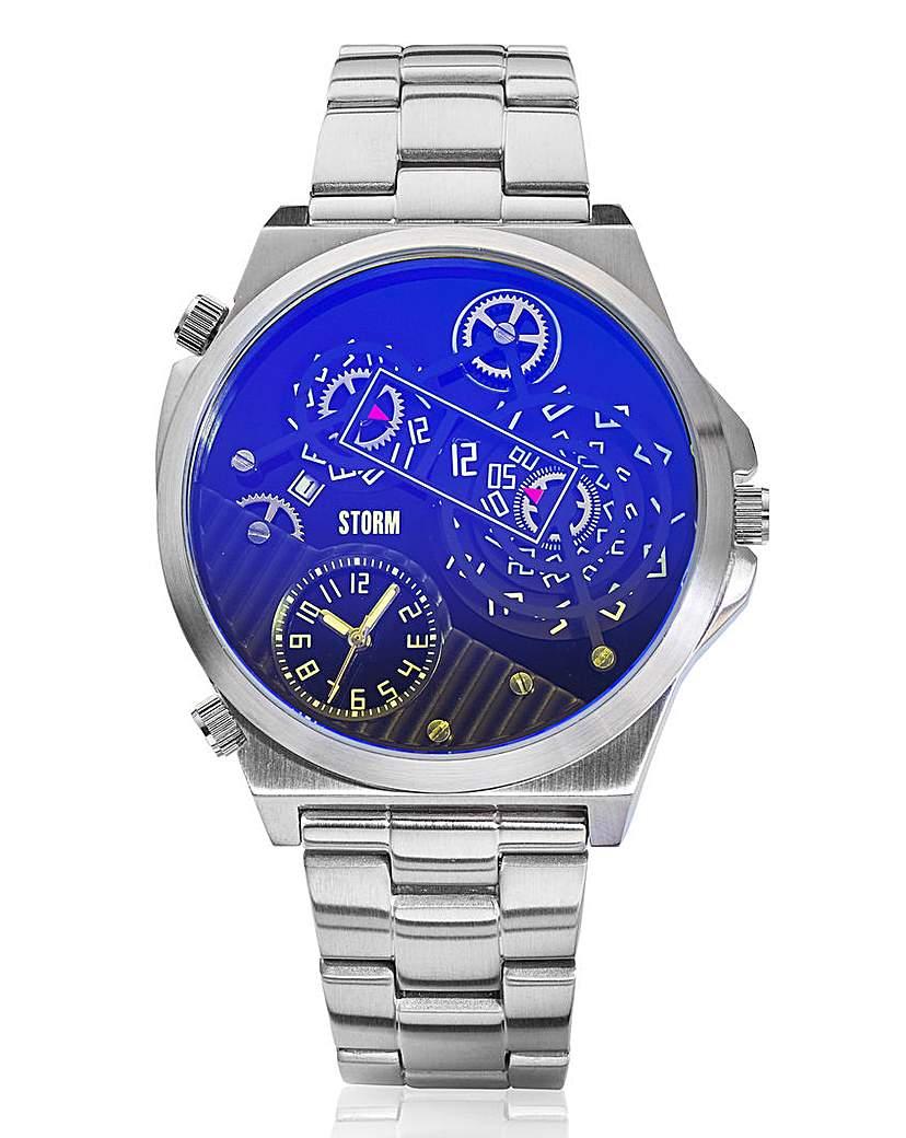 STORM 'Trimatic' Lazer Blue Gents Watch