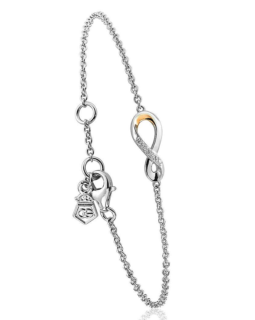 Image of Clogau Eternity Diamond Drop Bracelet
