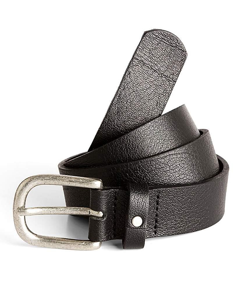 Black Label By Jacamo Slim Leather Belt