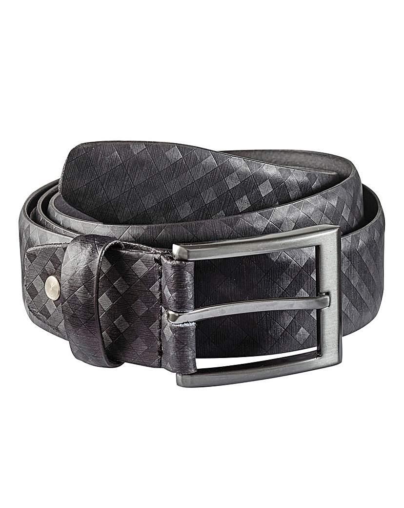 Black Label Checked Belt