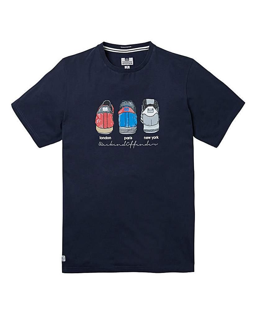 Weekend Offender Heels Navy T-Shirt Long.