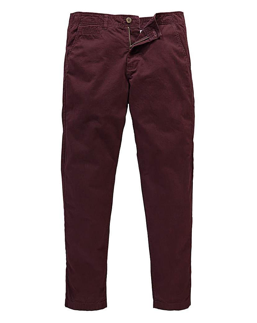 Jacamo Wine Stretch Tapered Chino 31in at Marisota