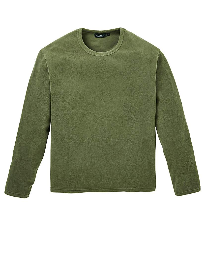 Capsule Khaki Crew Neck Polar Fleece