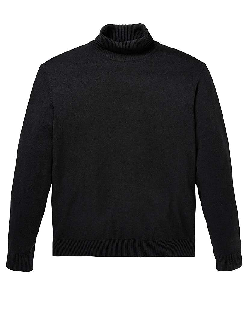 Image of Capsule Black Roll Neck Jumper
