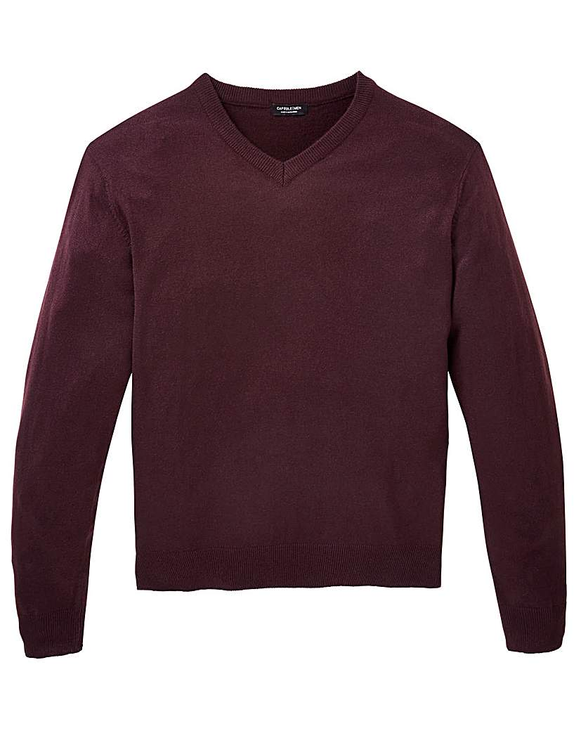 Image of Capsule Plum V-Neck Jumper