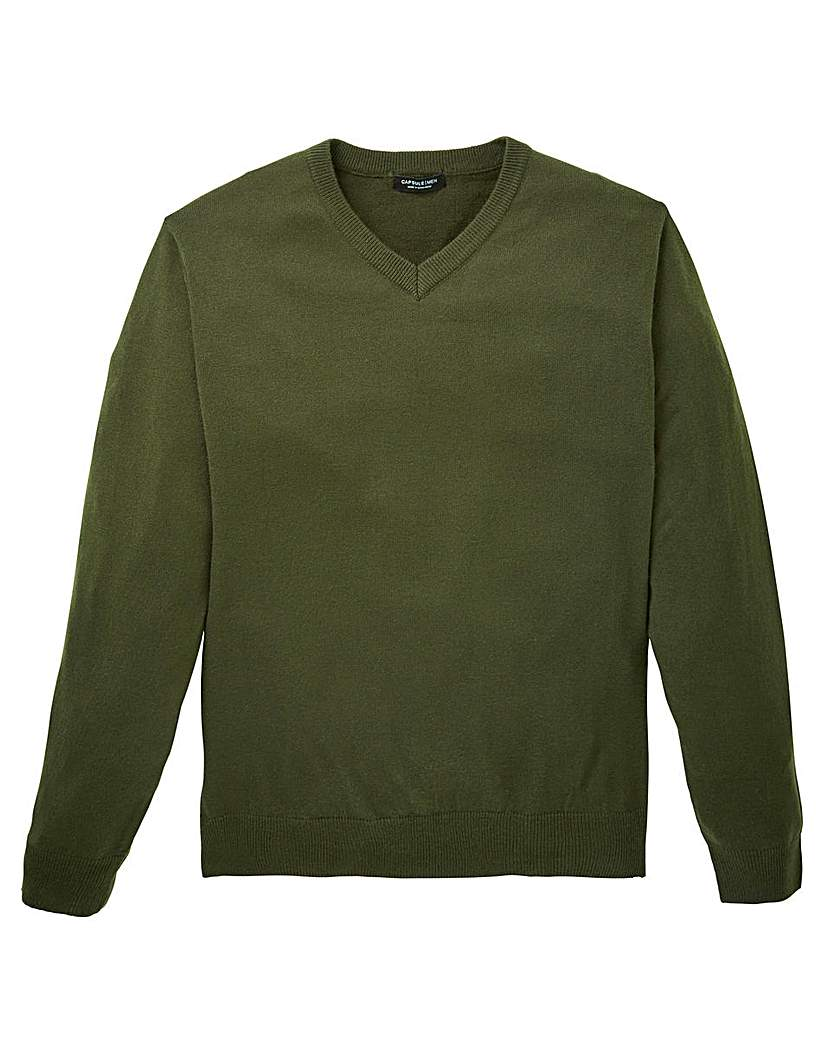 Image of Capsule Khaki V-Neck Jumper