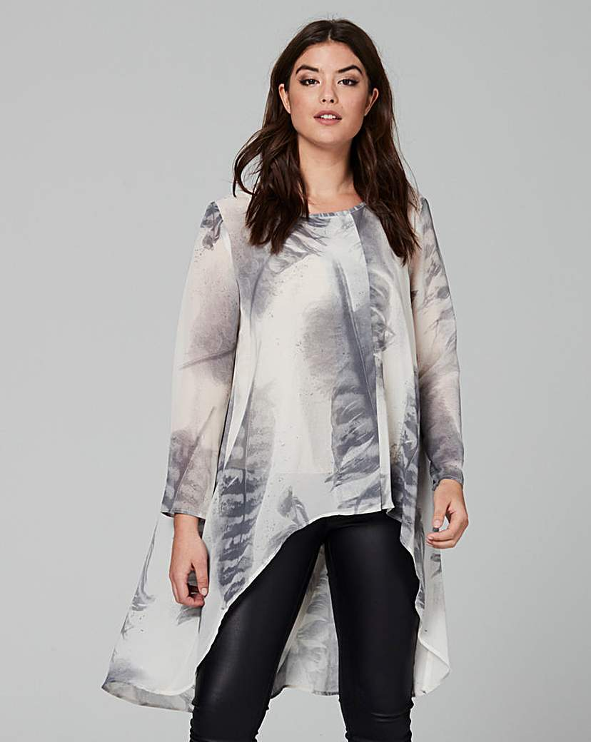 Image of Religion Influence Print Blouse