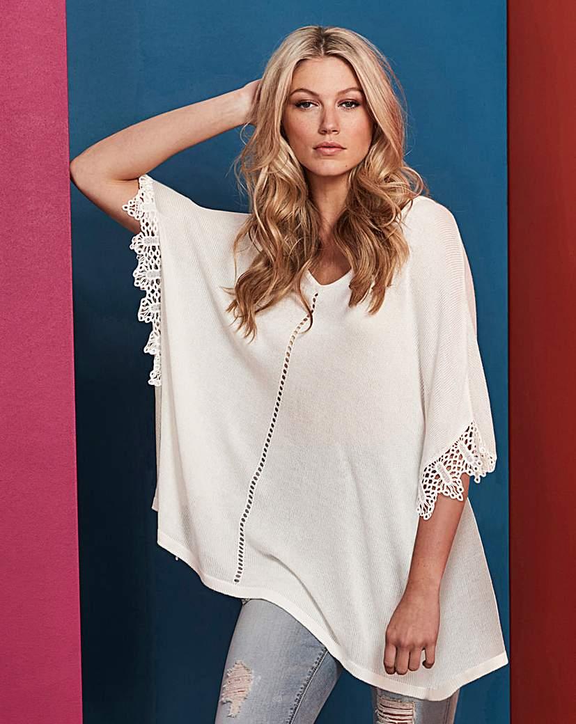 Image of Lace Sleeve Poncho