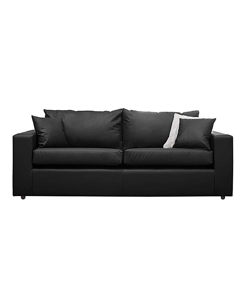 Image of Alicante Faux Leather 3 seater sofa