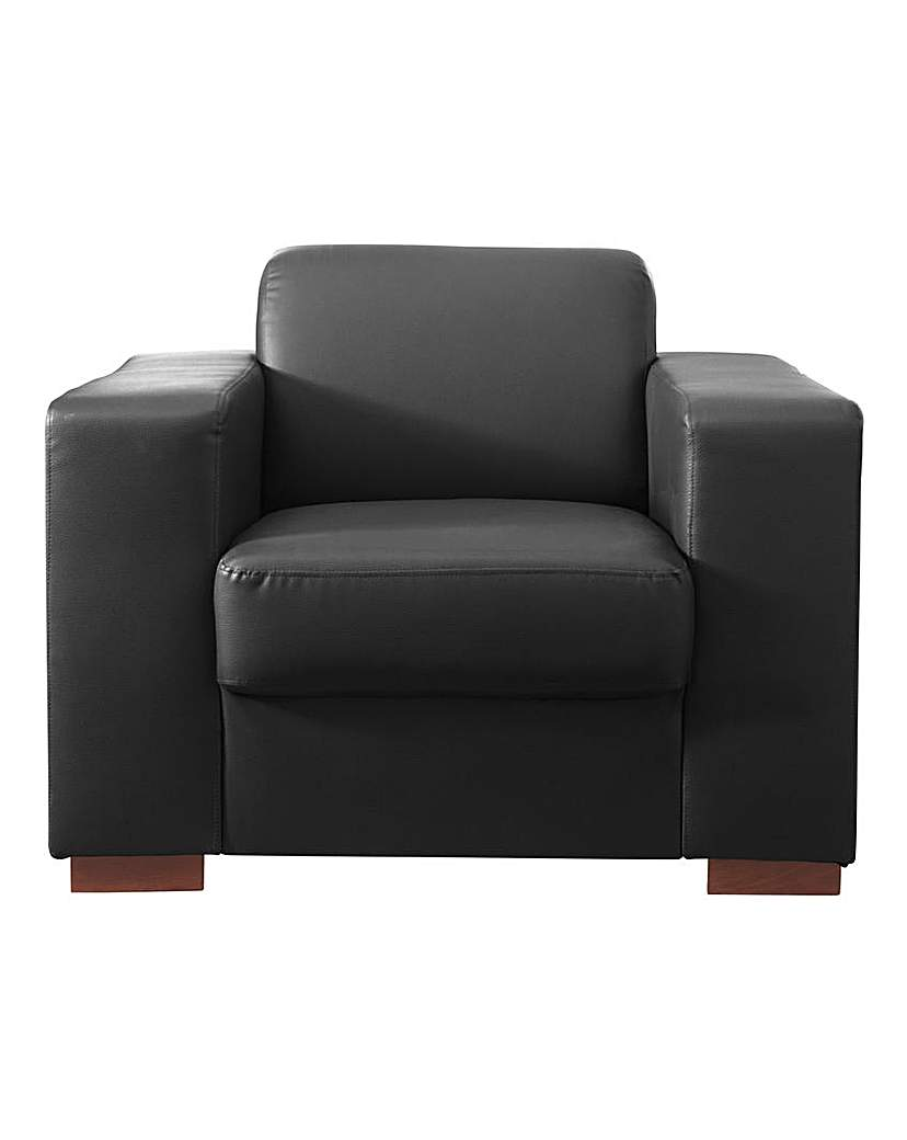 Memphis Faux Leather Armchair