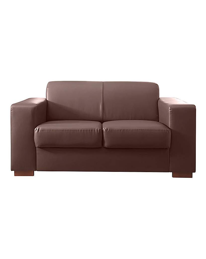 Image of Memphis Faux Leather 2 seater Sofa
