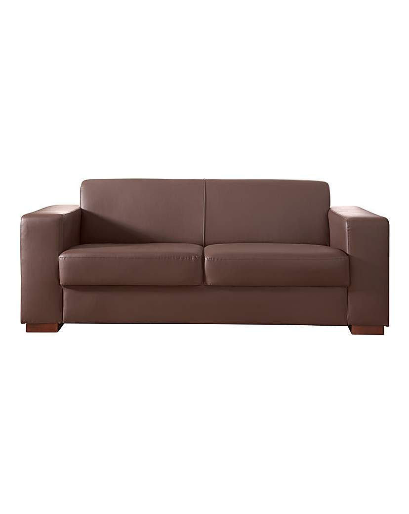 Image of Memphis Faux Leather 3 seater Sofa