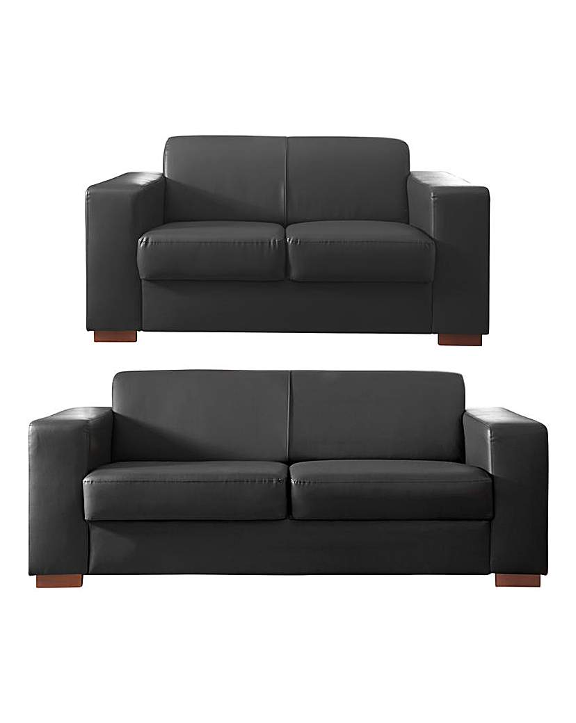Memphis Faux Leather 3 plus 2 seater