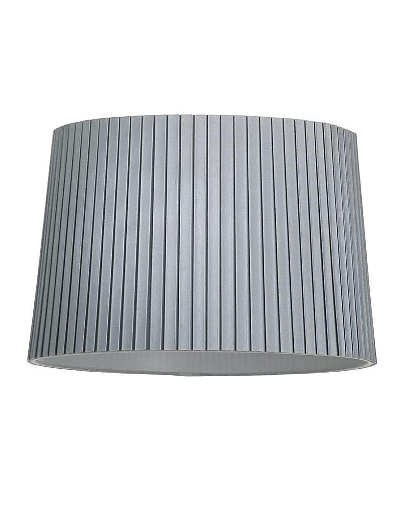 16 In Easy Fit Cylinder Shade - Silver