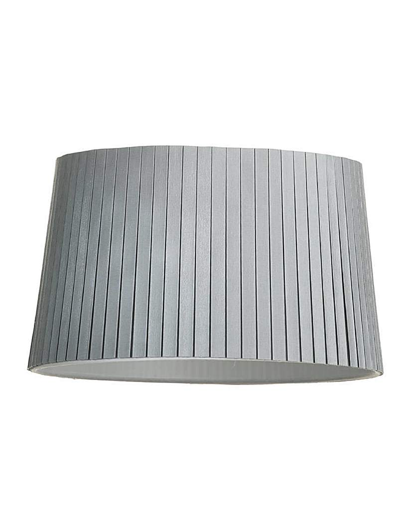 13 In Easy Fit Cylinder Shade - Silver