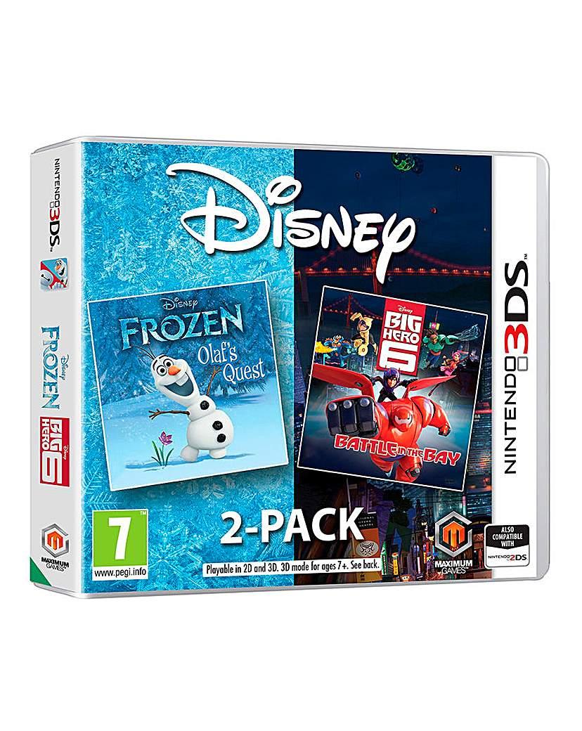 Product photo of Disney frozen big hero 6 pack 3ds