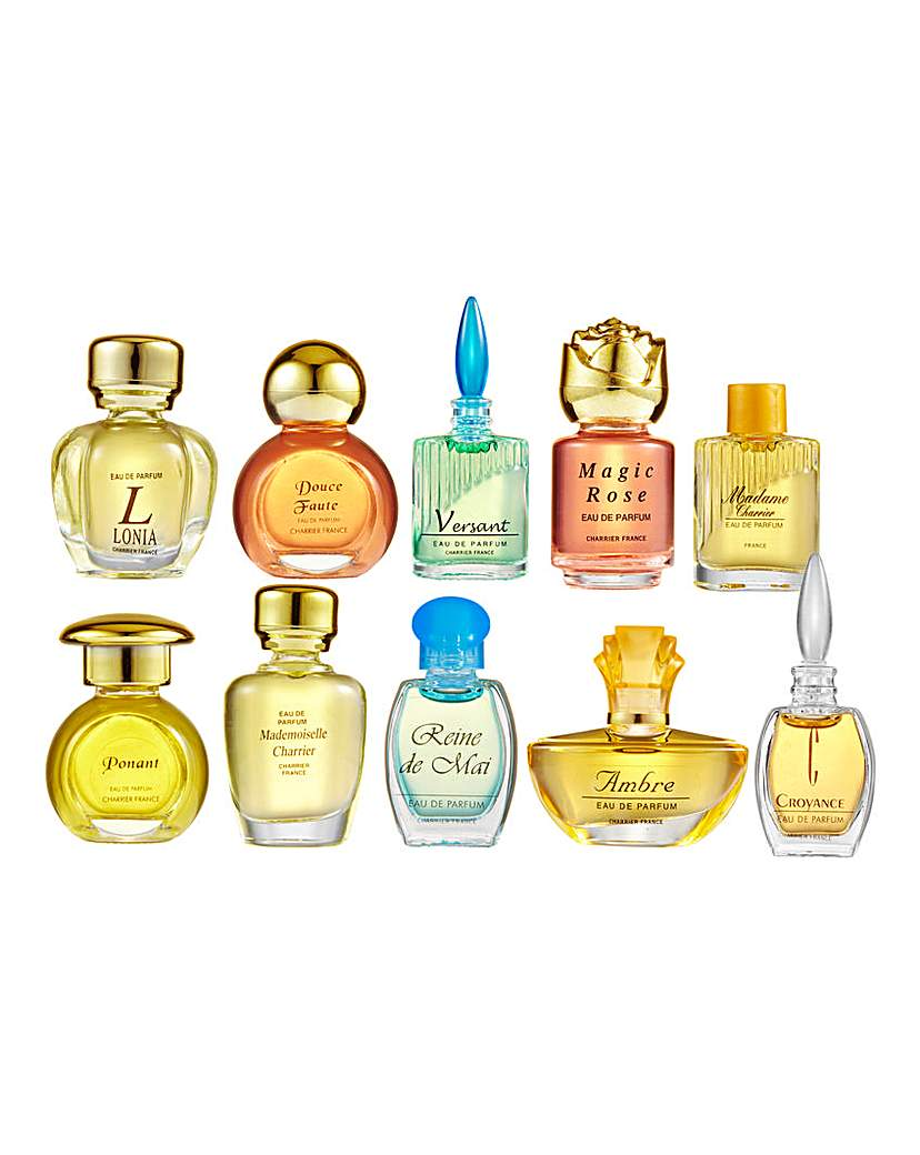 Product photo of Set of 10 charrier fragrance miniatures