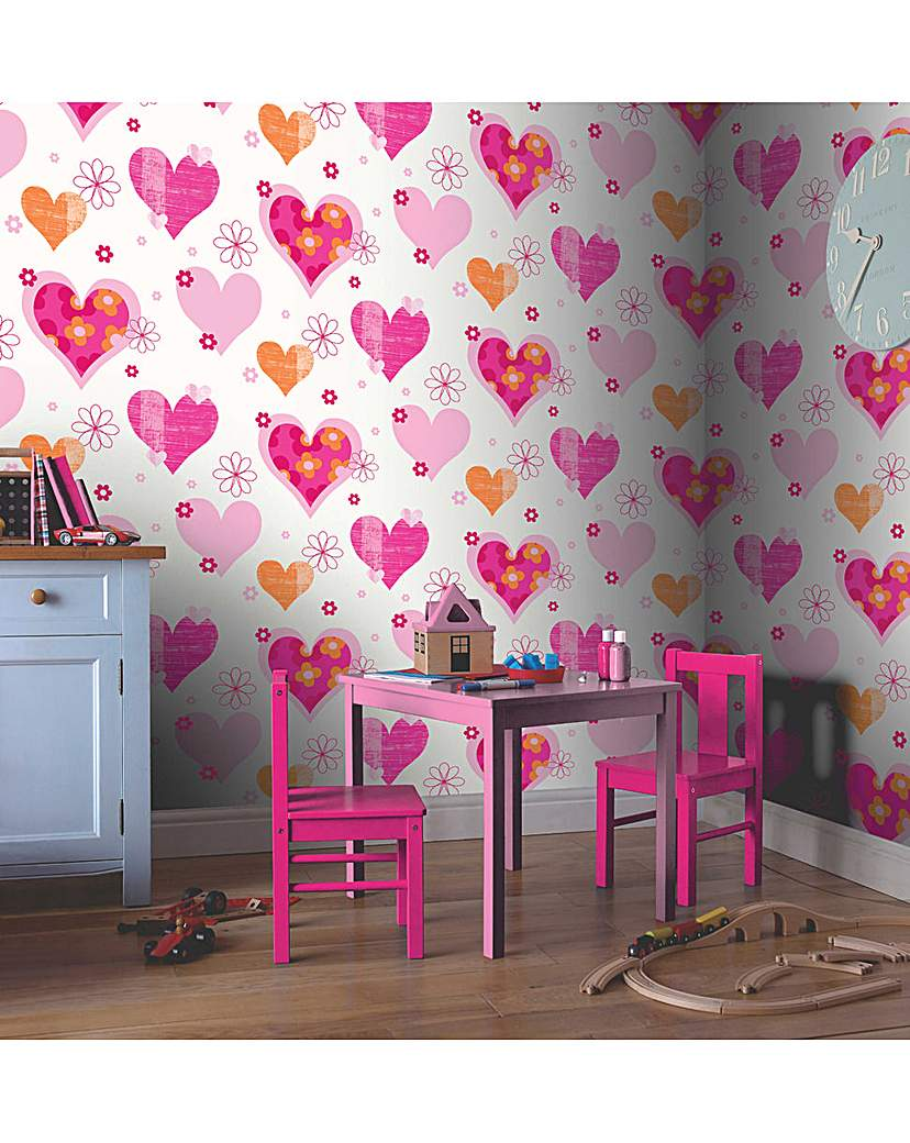 Image of Arthouse Happy Hearts Wallpaper