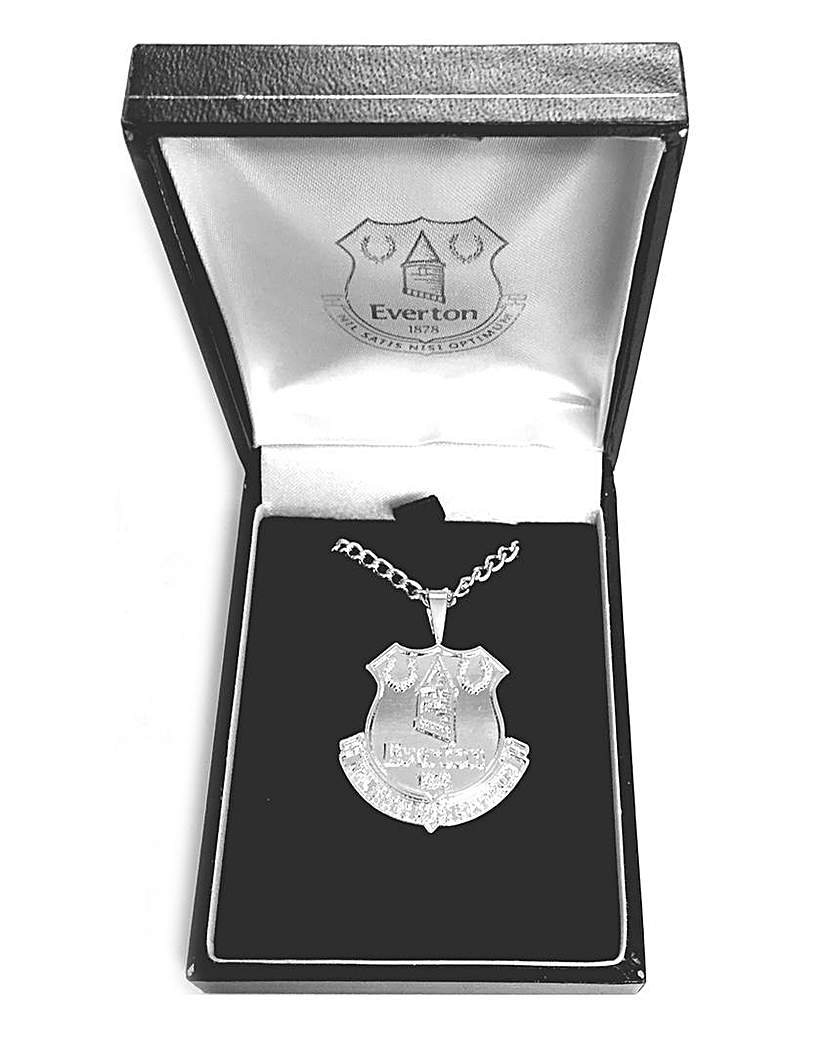 Silver Plated Football Crest Pendant