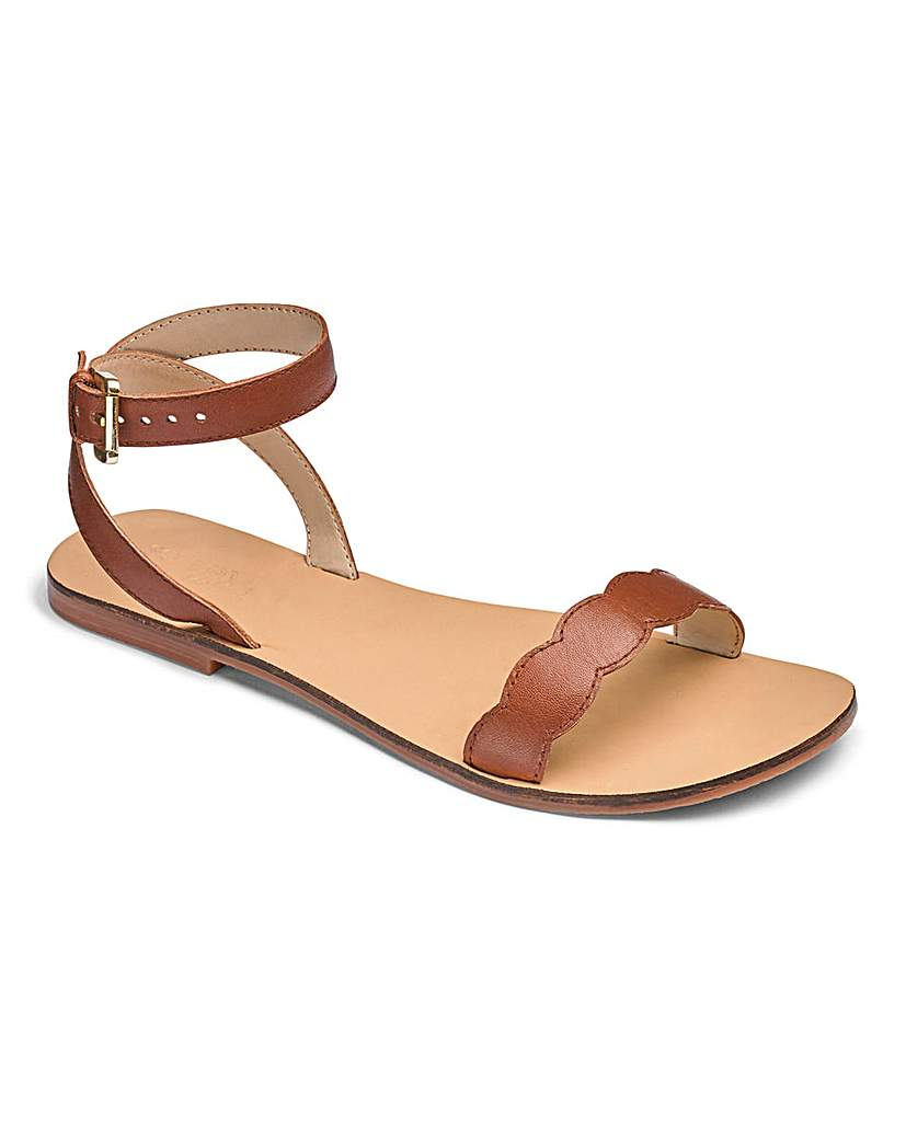 Sole Diva Leather Sandals E Fit.