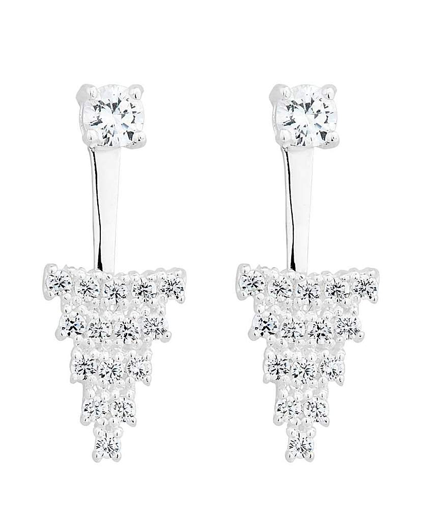 Simply Silver Cluster earring