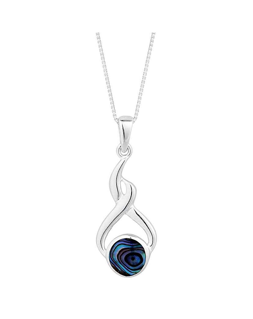 Simply Silver abalone twist pendant