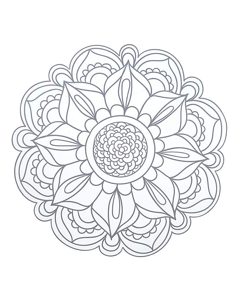 Mandala Wall Sticker Grey