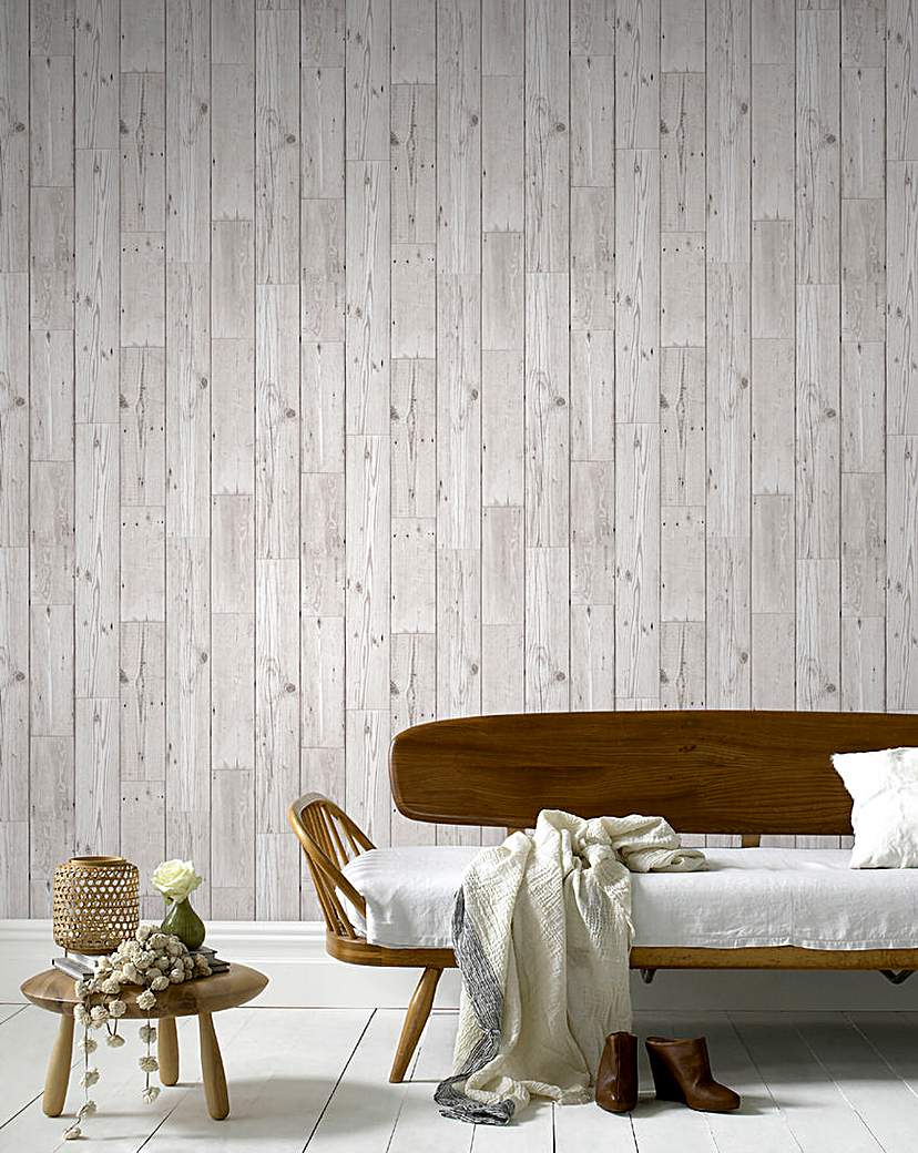 Graham and Brown Wood Plank Wallpaper