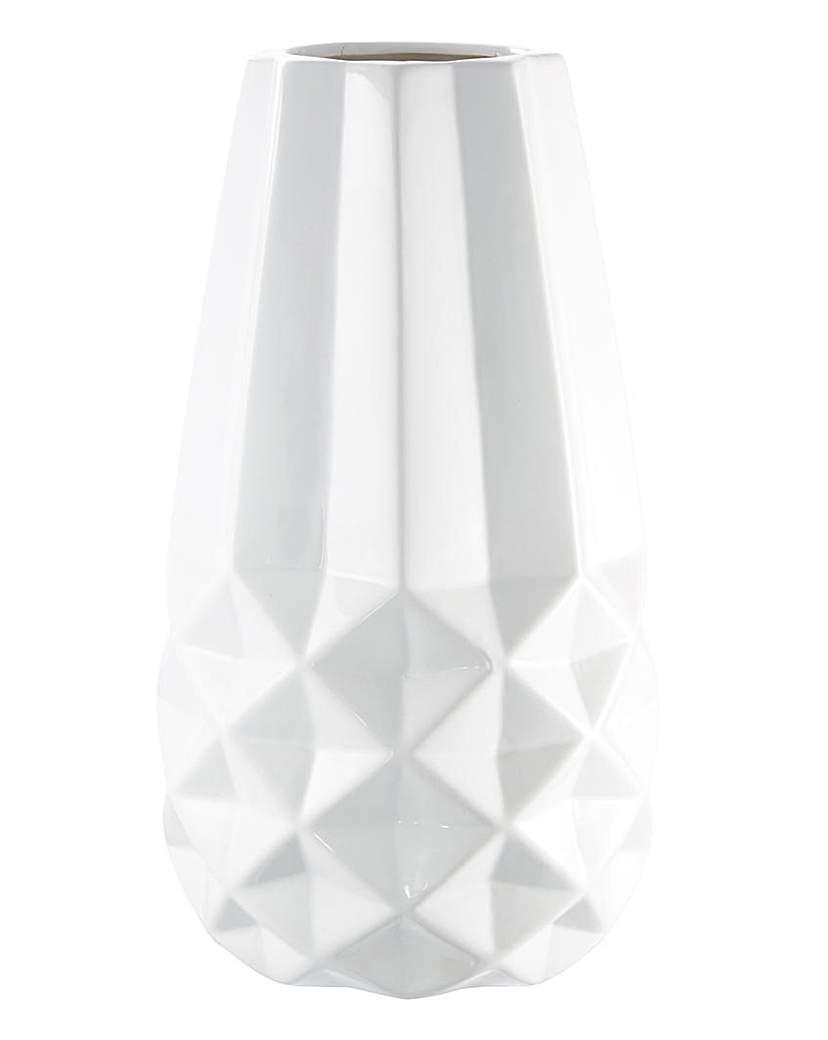White Dolomite Vase 27cm
