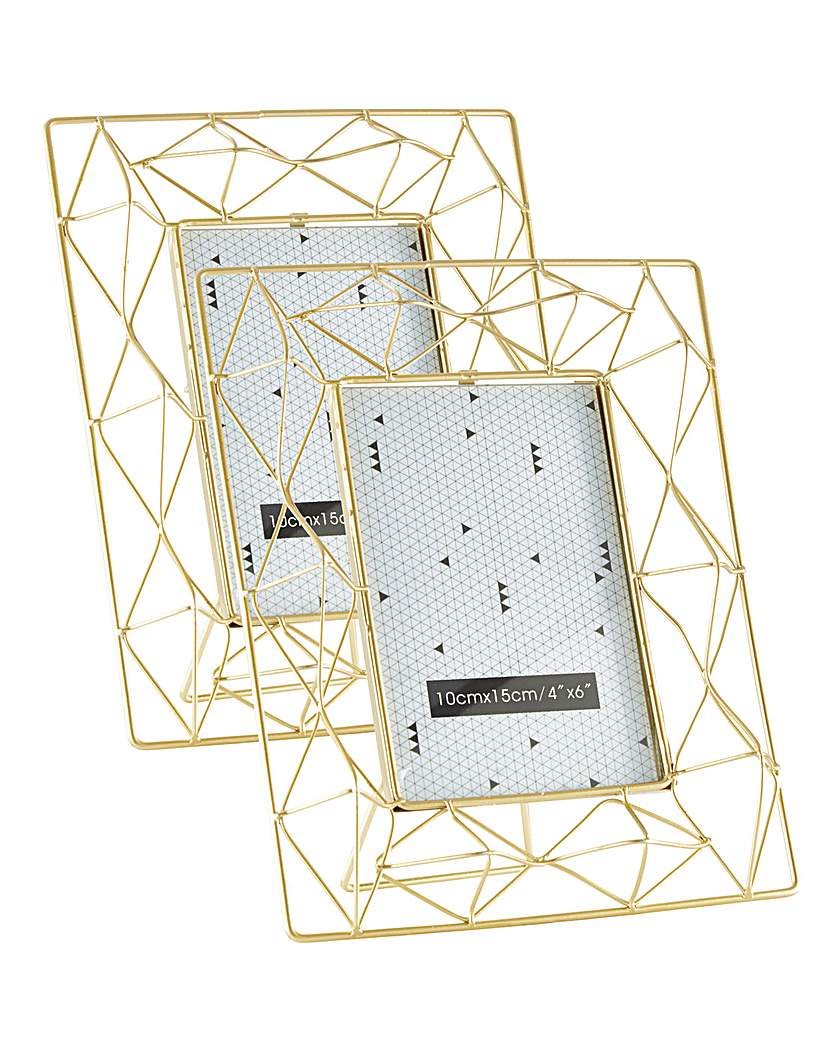 Image of Gold Geometric Frame 4 x 6 - Set 2