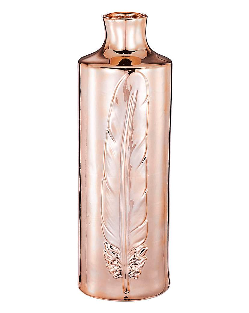 Feather Vase Copper